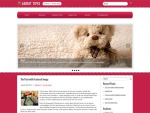 AboutToys Free WordPress Toy Theme