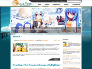 AnimePress Free WordPress Anime Theme