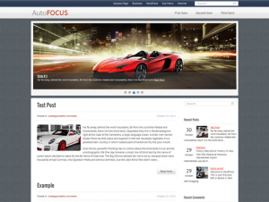 AutoFocus Free WordPress Automotive Theme