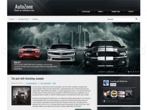 AutoZone Free Automotive Related WordPress Theme