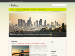 BizPress Beautiful Free WordPress Theme
