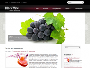 BlackWine Free Food Related WordPress Theme