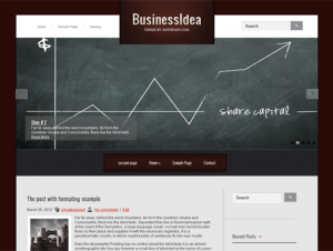 BusinessIdea Business Related Free WordPress Theme