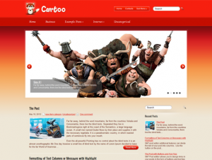 Cartoo Free WordPress Cartoon Theme