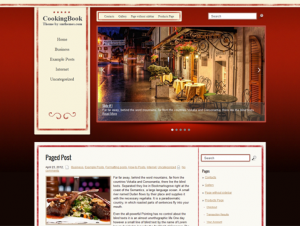 CookingBook Premium Free WordPress Food Theme