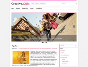 CreativeCom Free WordPress Theme