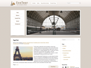 EcoTour Free WordPress Travel Theme
