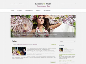 FashionStyle Free WordPress Fashion Theme