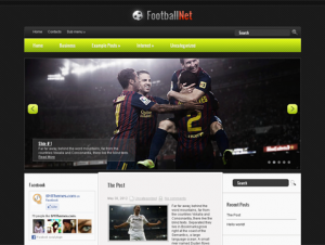 FootballNet Free WordPress Sports Theme