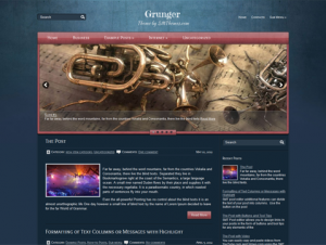 Grunger Premium Free WordPress Music Theme