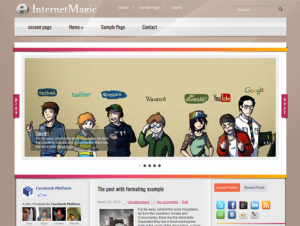 InternetMagic Premium Free Hi-Tech WordPress Theme