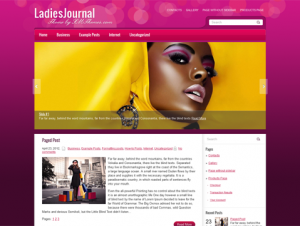LadiesJournal Free Premium WordPress Theme