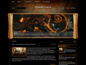MiddleEarth Gorgeous Free WordPress Fantasy Theme