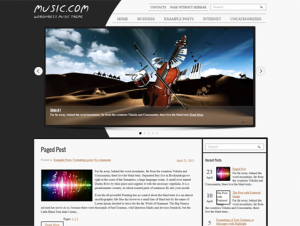 Musica Premium Free WordPress Music Theme
