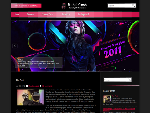 MusicPress; Beautiful Free Wordpress Music Theme