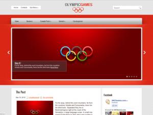 OlympicGames Free Premium WordPress Theme