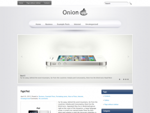 Onion Free WordPress Technology Theme