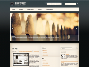 PhotoPress Free WordPress Photography Theme