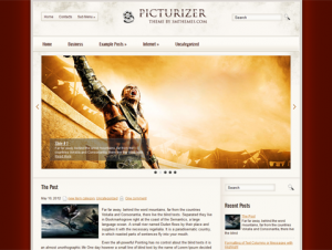 Picturizer Free WordPress Movie Theme