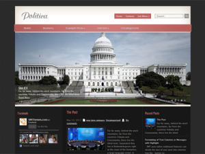 Politica Free WordPress Political Theme