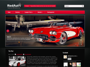 RedAuto Free WordPress Automotive Theme