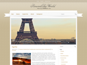 RoundTheWorld Free Travel WordPress Theme