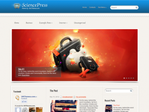 SciencePress Premium Free WordPress Education Theme