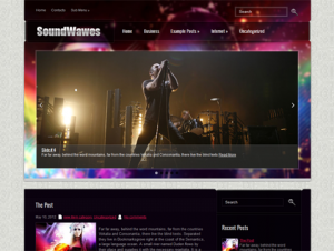 SoundWaves Free Premium WordPress Music Theme