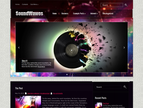 SoundWavesSE Premium Free Wordpress Music Theme