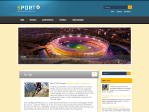 Sport Free WordPress Sport Theme