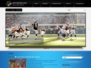 SportBlog Free WordPress Sports Theme