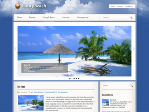 SunnyBeach Free Premium WordPress Travel Theme