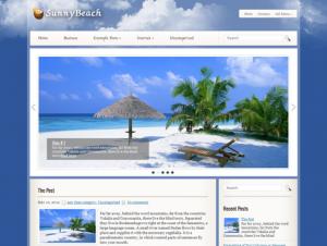 SunnyBeach Free Premium WordPress Travel Theme