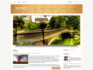Wooder Free WordPress Nature Theme