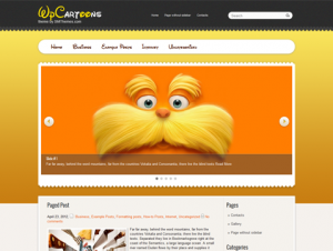 WpCartoons Free WordPress Cartoon Theme