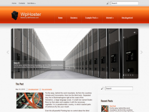 WpHoster Free WordPress Hosting Theme
