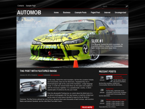 AutoMob Free WordPress Automotive Theme