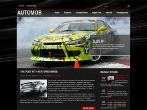 AutoMob Free WordPress Automotive Theme