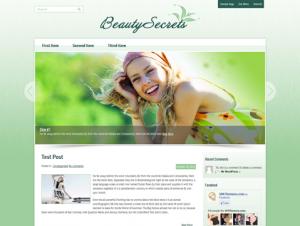 BeautySecrets Free WordPress Theme