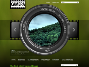 Camera Free WordPress Photography Theme