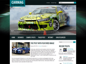 Carmag Free WordPress Automotive Theme