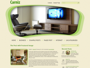 Carniz Premium Free WordPress Theme