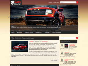 CarsWorld Free WordPress Automotive Theme