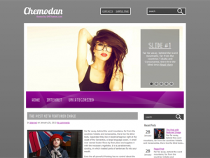 Chemodan Free WordPress Fashion Theme