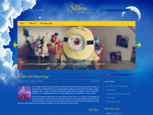 Children Free WordPress Cartoon Theme