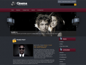 Cinema Free WordPress Movie Theme