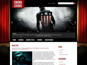 CinemaLounge Premium Free WordPress Movie Theme