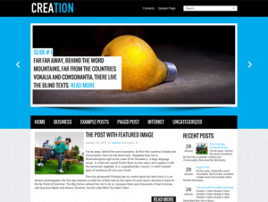 Creation Free WordPress Theme