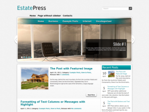 EstatePress Free WordPress Business / Real Estate Theme