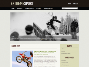 ExtremeSport Free WordPress Sports Theme